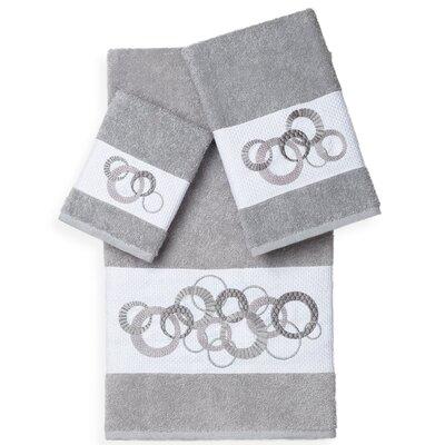 Byblos 3 Piece Towel Set Color: Light Gray
