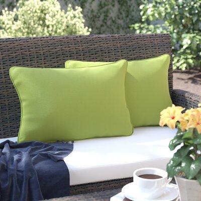 Thorson Modern Outdoor Lumbar Pillow Color: Green