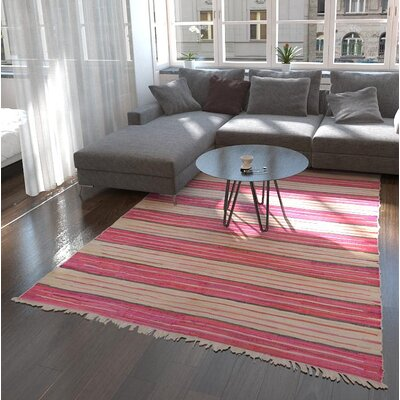 Cohen Hand woven Wool Pink Area Rug Rug Size: Rectangle 6 7 x 9 10