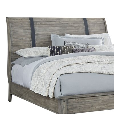 Burleigh Gray Sleigh Headboard Size: California king