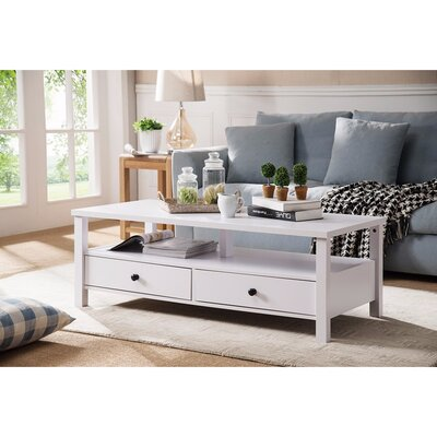 Walkowiak Attractive Coffee Table Color: White