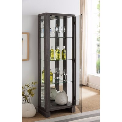 Jarboe LED Lighted Curio Cabinet
