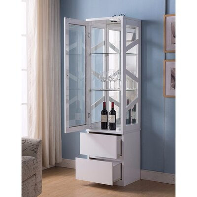 Burruss Floor Wine Cabinet Finish: White