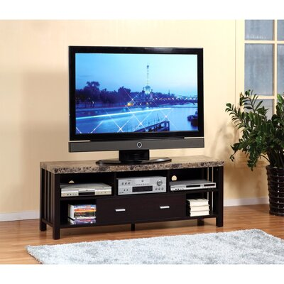 Wagaman Deluxe Faux Marble Top 60 TV Stand