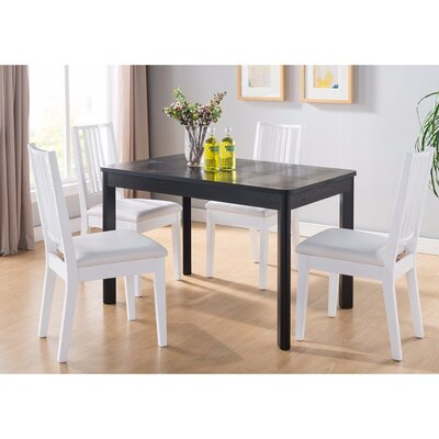 Vowell Wooden Dining Table Color: Black