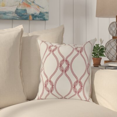 Cece 100% Cotton Throw Pillow Size: 22 H x 22 W, Color: Bright Red, Fill Material: Down Fill