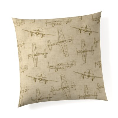 Phaeton Airplanes Linen Throw Pillow