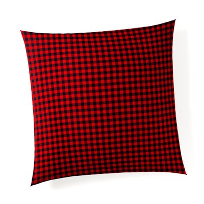 Plumwood Check Linen Throw Pillow