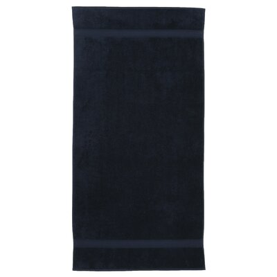 Toscano 100% Turkish Cotton Bath Towel Color: Navy