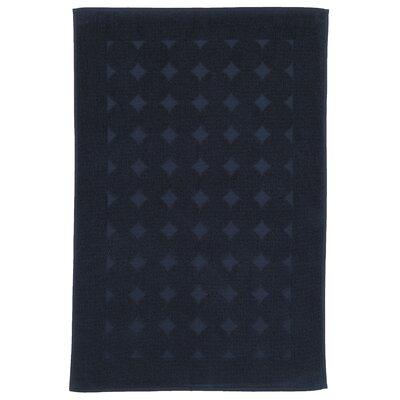 Toscano 100% Turkish Cotton Circle Design Bath Rug Color: Navy