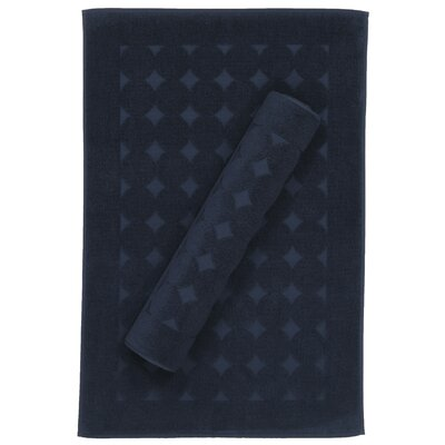 Toscano Bath Rug Color: Navy