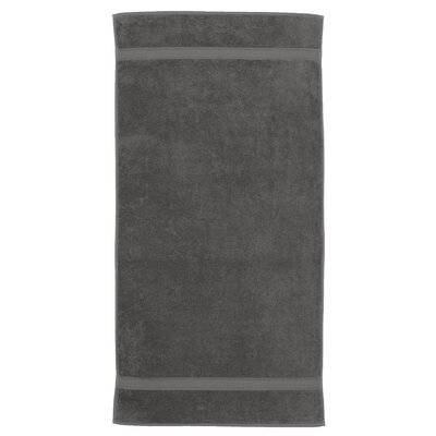 Toscano 100% Turkish Cotton Bath Towel Color: Dark Gray
