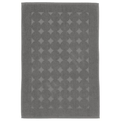 Toscano 100% Turkish Cotton Circle Design Bath Rug Color: Dark Gray