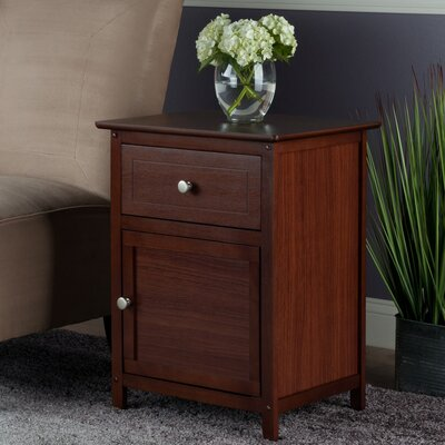 Gallinas 1 Drawer Nightstand Color: Antique Walnut