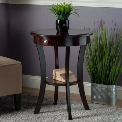 Emington End Table With Storage Color: Cappuccino