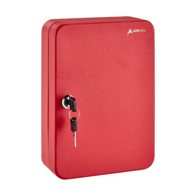 Secure 48 Key Cabinet with Key Lock Finish: Red 681-48-RED