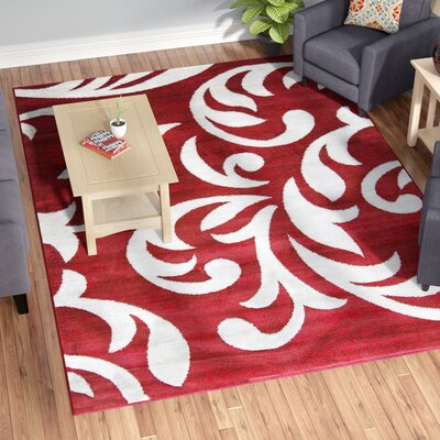 Nader Red Area Rug Rug Size: 8 x 11