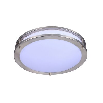 Tottenville 1-Light LED Flush Mount Size: 13 H x 13 W x 4 D, Color Temperature: 3000K