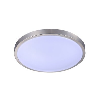 Toups 1-Light LED Flush Mount Size: 17 H x 17 W x 5.5 D, Color Temperature: 3000K