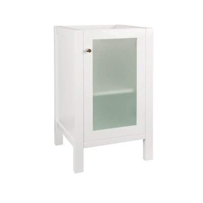 Cami 18 Single Bathroom Vanity Base Base Finish: Glossy White
