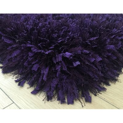 Pawlak Hand-Tufted Purple Area Rug Rug Size: Rectangle 76 x 103