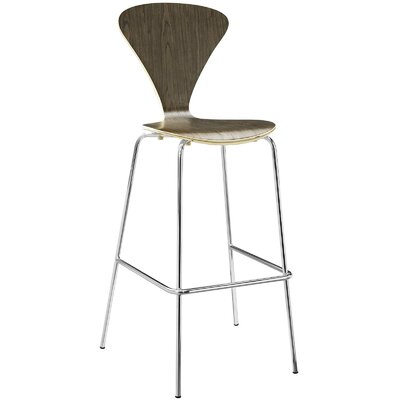 Pyburn 31 Bar Stool Color: Walnut