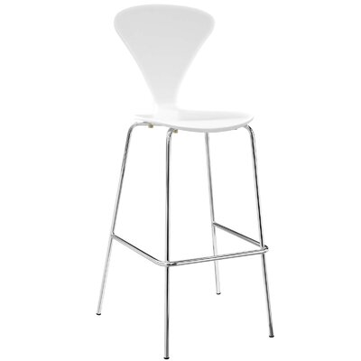 Pyburn 31 Bar Stool Color: White