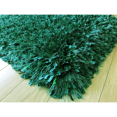 Heineman Solid Shag Hand-Tufted Lush Meadow Area Rug Rug Size: Rectangle 5 x 7