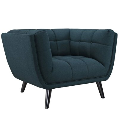 Pylant Upholstered Armchair Upholstery: Blue