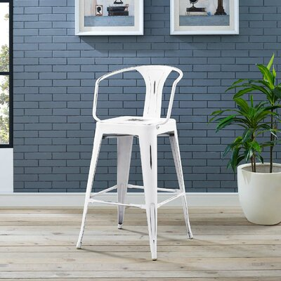 Garlyn 29.5 Bar Stool Color: White