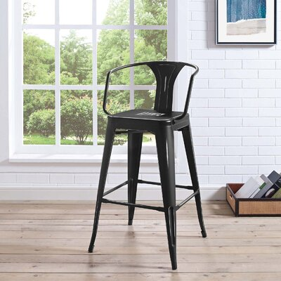 Garlyn 29.5 Bar Stool Color: Black