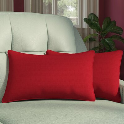 Compton Outdoor Throw Pillow Color: Pompeii Red, Size: 11.5 x 18.5 x 5