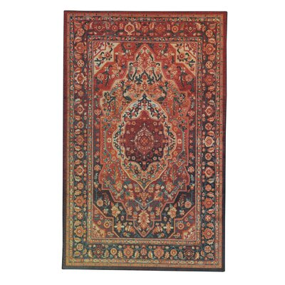 Clement Tangerine Red Area Rug Rug Size: Rectangle 8 x 10