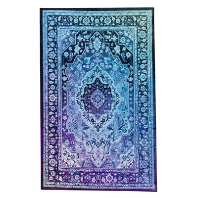 Clement Twilight Blue Area Rug Rug Size: Rectangle 5 x 8