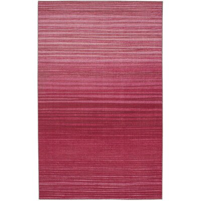 Clement Horizon Line Pink Area Rug Rug Size: Rectangle 8' x 10'