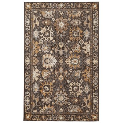Battler Brown Area Rug Rug Size: Rectangle 5 x 8