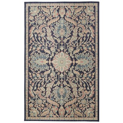 Meagan Navy Area Rug Rug Size: Rectangle 5 x 8