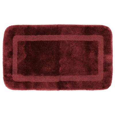 Carlino Bath Rug Size: 24 W x 40 L, Color: Merlot