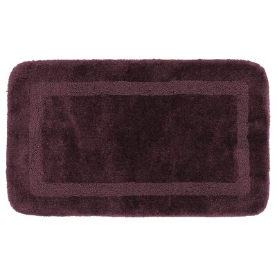 Carlino Bath Rug Size: 24 W x 40 L, Color: Plum