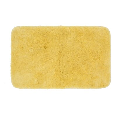 Gahagan Bath Rug Size: 17 W x 24 L, Color: Yellow