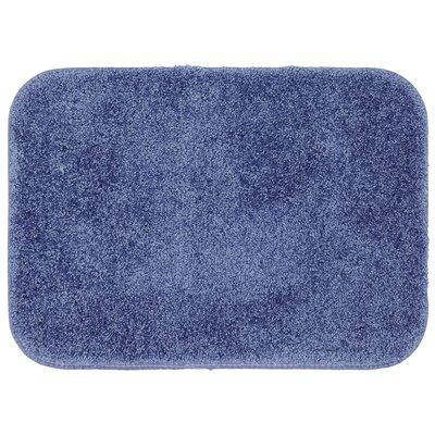 Gahagan Bath Rug Size: 17 W x 24 L, Color: Blue