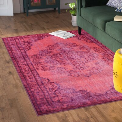 Nielsen Pink Area Rug Rug Size: Rectangle 55 x 82