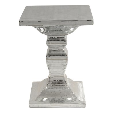 Lianna Mirrored End Table