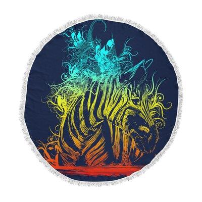 Frederic Levy-Hadida Wild Nature Zebra Round Beach Towel ETHF1065 44511576