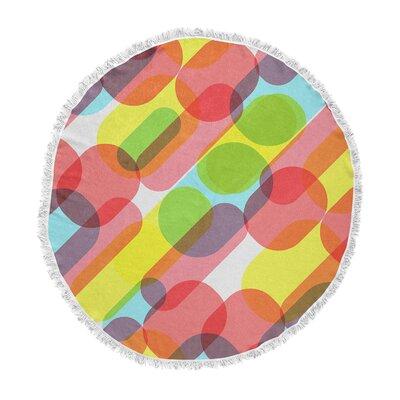 Tobe Fonseca Bubble Burst Pattern Digital Round Beach Towel ETHE9230 44509741