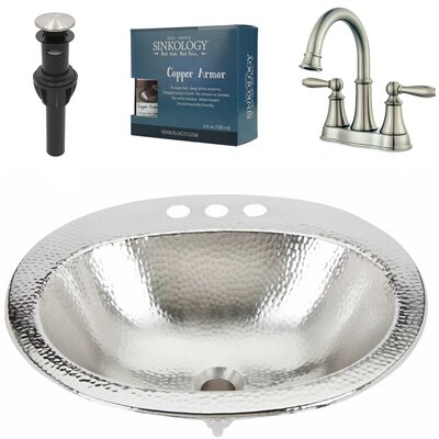 Dalton All-in-One Drop-In Metal Oval Drop-In Bathroom Sink with Faucet and Overflow