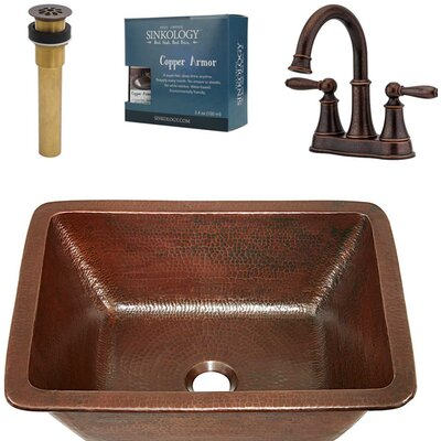 Hawking All-In-One Metal Rectangular Undermount Bathroom Sink with Faucet Size: 17 H x 14 W x 14 D