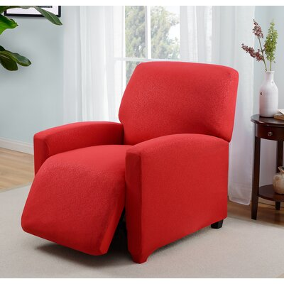 Box Cushion Recliner Slipcover Upholstery: red
