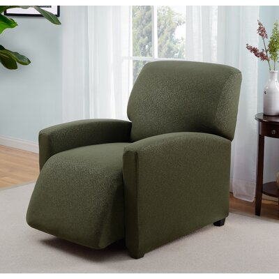 Box Cushion Recliner Slipcover Upholstery: Forest