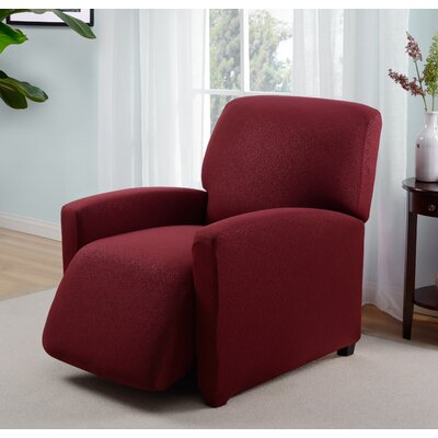 Box Cushion Recliner Slipcover Upholstery: Ruby